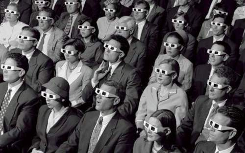 60s 3-D movie audience